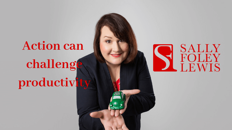 Action can be a challenge for productivity
