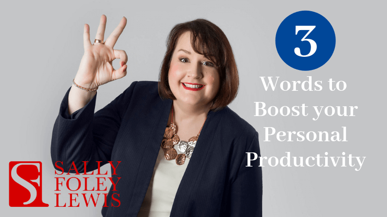 Blog Header 3 Words To Boost Personal Productivity