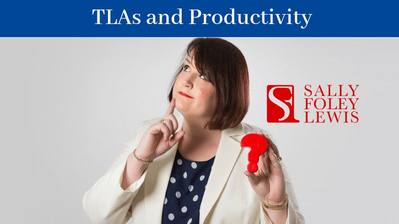 Blog Header TLAs and Productivity
