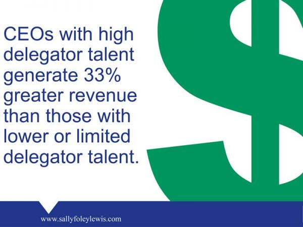 CEOs with high delegator talent generate 33% greater revenue than those with lower or limited delegator talent